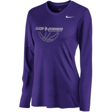 Lake Stevens AAU - Boys 19: Nike Women's Legend Long-Sleeve Training Top - Purple