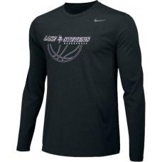 Lake Stevens AAU - Boys 16: Adult-Size - Nike Team Legend Long-Sleeve Crew T-Shirt - Black