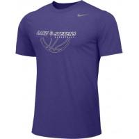 Lake Stevens AAU - Boys 13: Adult-Size - Nike Team Legend Short-Sleeve Crew T-Shirt - Purple
