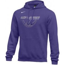 Lake Stevens AAU - Boys 24: Adult-Size - Nike Team Club Fleece Training Hoodie (Unisex) - Purple